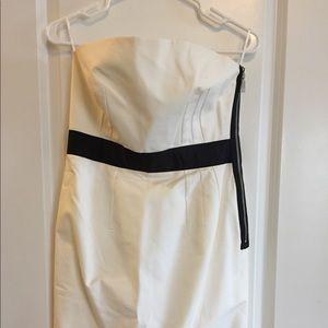 Zara white strapless dress